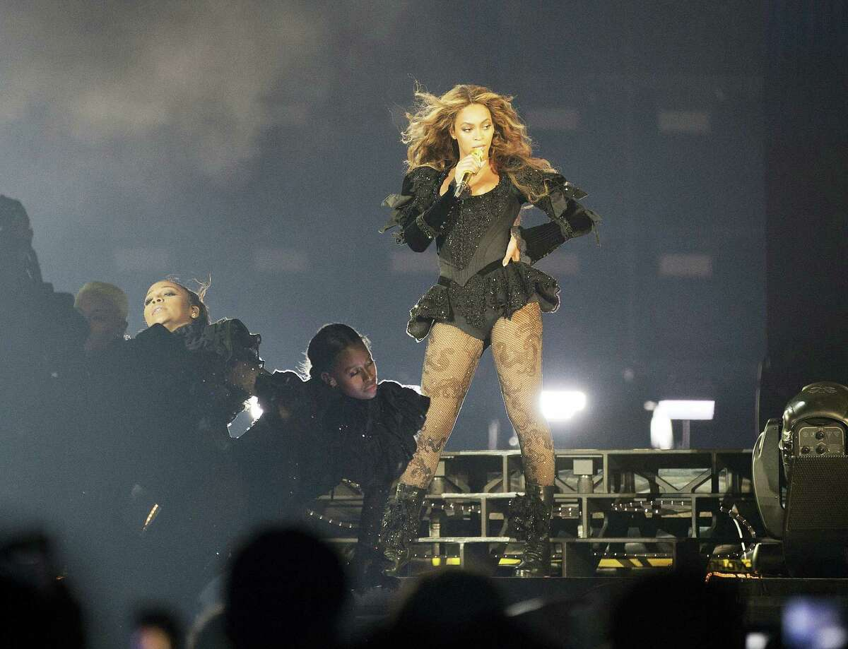 Beyonce performs during a show earlier this month in Georgia.