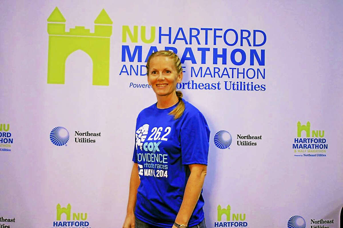 The avid road racer completed the Hartford Marathon in 2014.