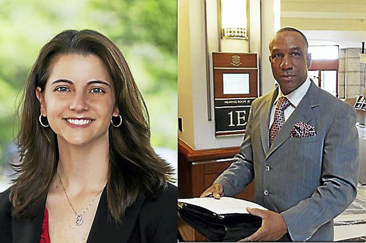 State Rep. Christie Carpino and Democratic challenger Myron Johnson.