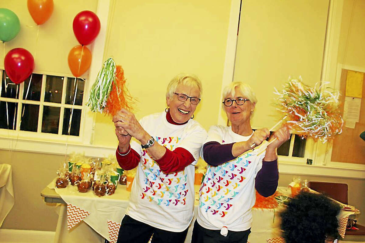 Courtesy photo Margaret Coe and Kitch Czernicki celebrate the Middlesex Y's annual campaign kickoff in Middletown.