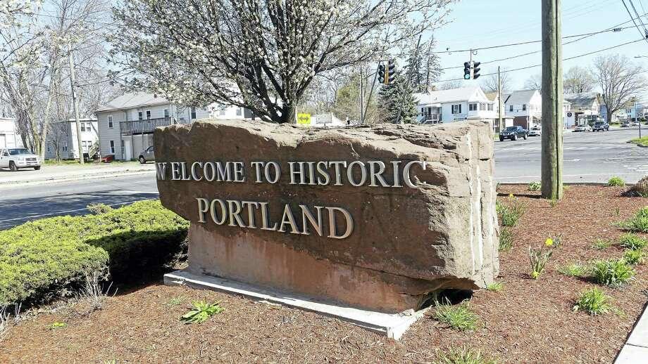 Cassandra Day - The Middletown Press Portland Main Street sign logo Photo: Journal Register Co.
