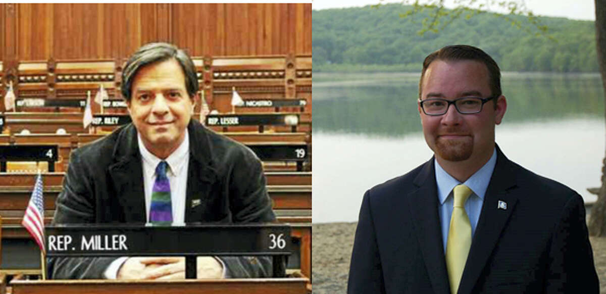 State Rep. Phil Miller and Republican challenger Robert W. Siegrist III