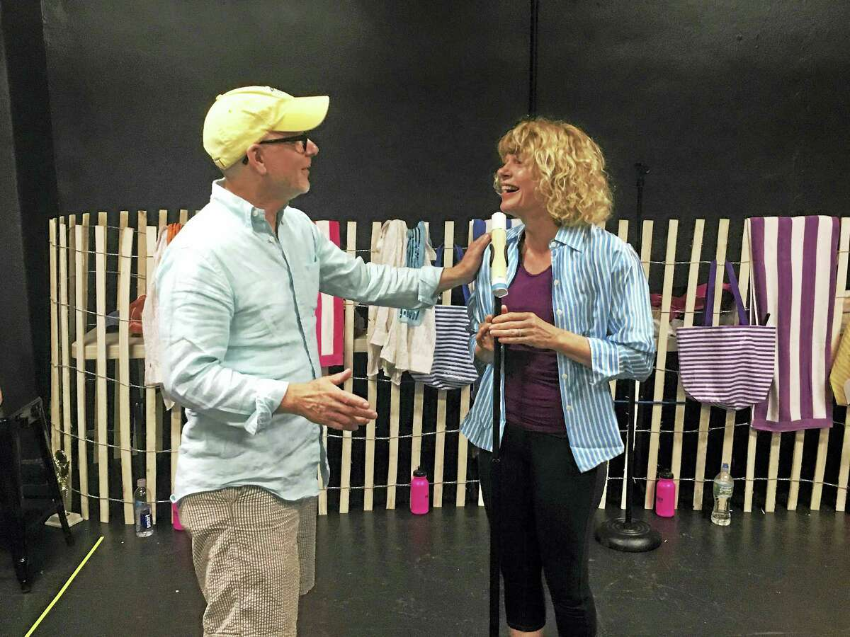 """Husband-and-wife team Ray Roderick and Karyn Quackenbush will help bring """"The Bikinis"""" to Long Wharf from Wednesday through July 31."""