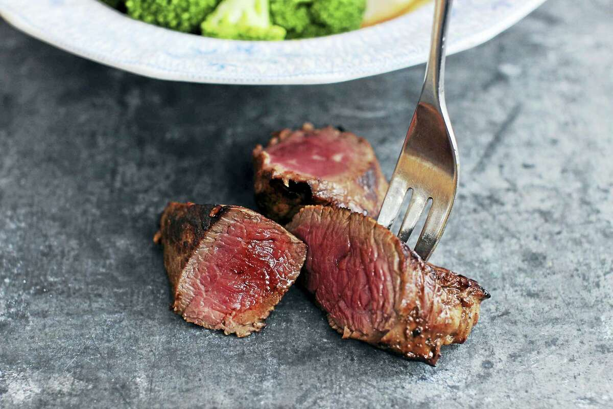 Petite beef sirloin is a great cut of meat, is usually less expensive than the larger filet mignon cuts and cooks up quite quickly.