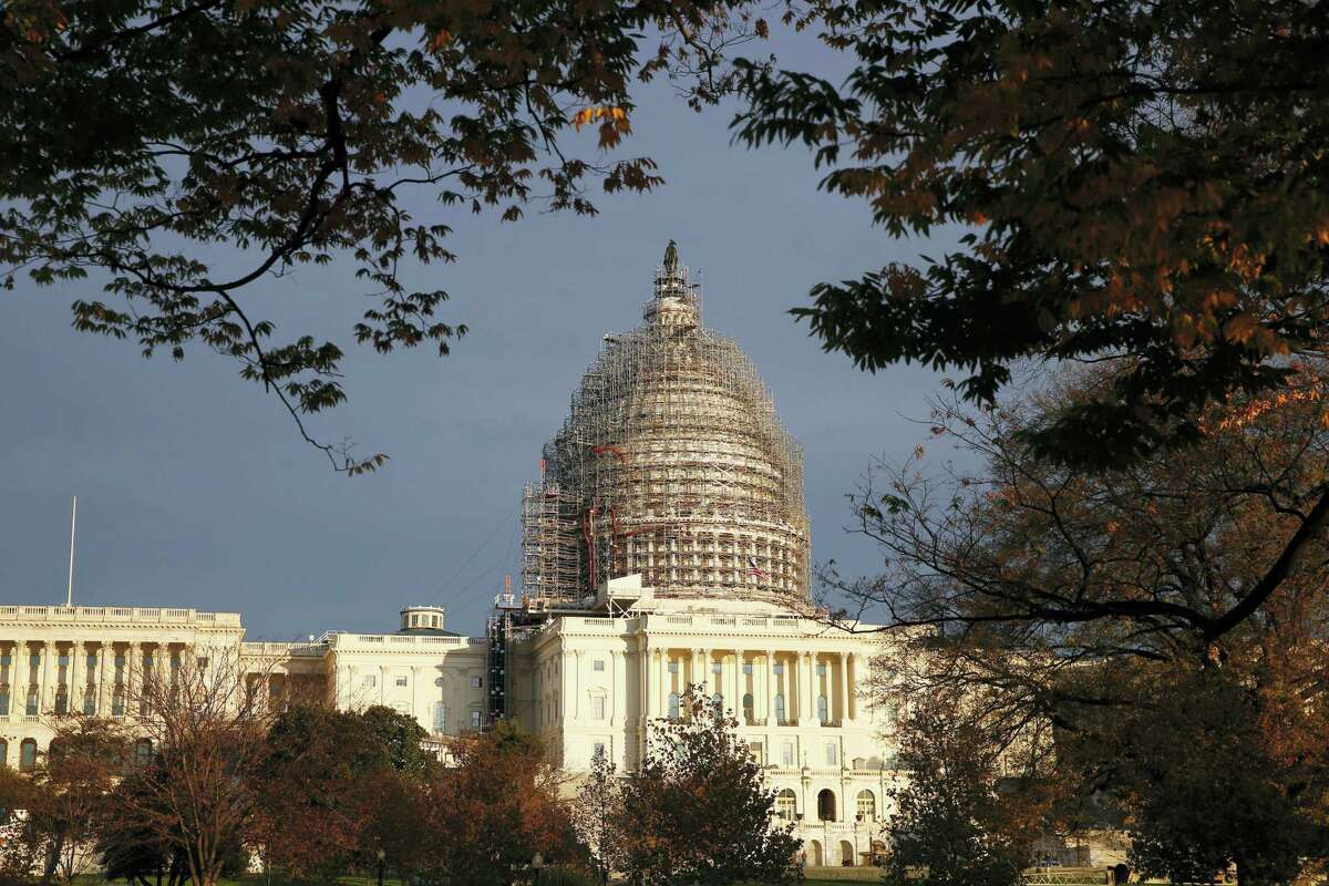 In this Nov. 22, 2015 photo, The Capitol dome is seen on Capitol Hill.