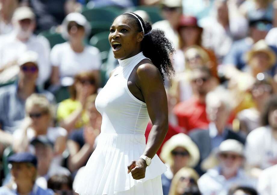 Serena WilliamsS celebrates after beating Elena Vesnina on Thursday. Photo: Kristy Wigglesworth — The Associated Press  / Copyright 2016 The Associated Press. All rights reserved. This material may not be published, broadcast, rewritten or redistribu