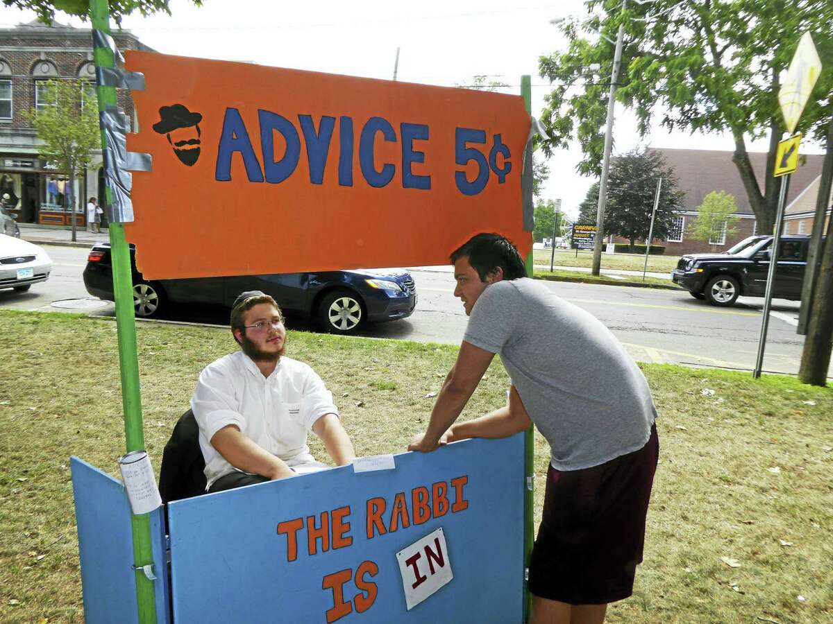 An advice booth at last year's event.