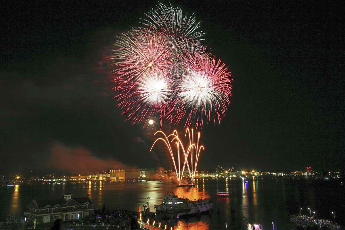 Last year's Sailfest fireworks.