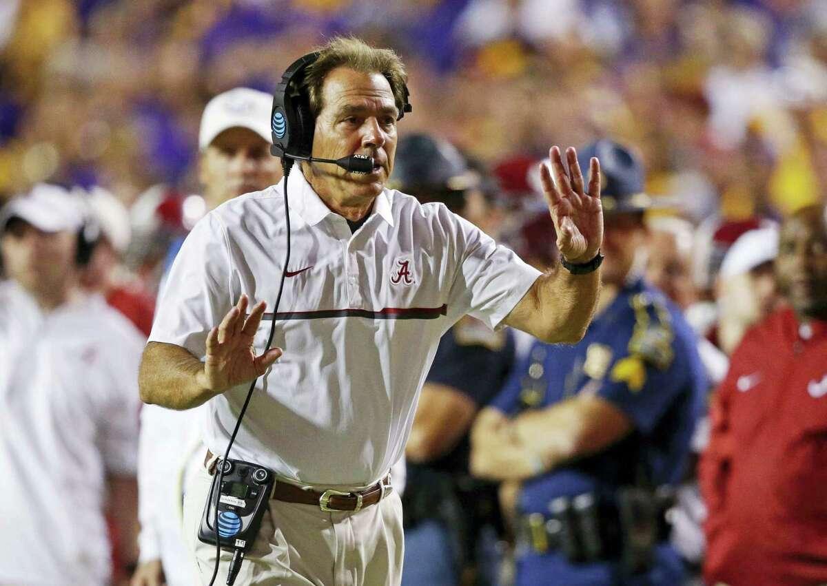 Alabama head coach Nick Saban.