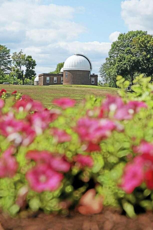 Wesleyan University's Van Vleck Observatory sits high atop Foss Hill. Photo: Olivia Drake — Wesleyan University