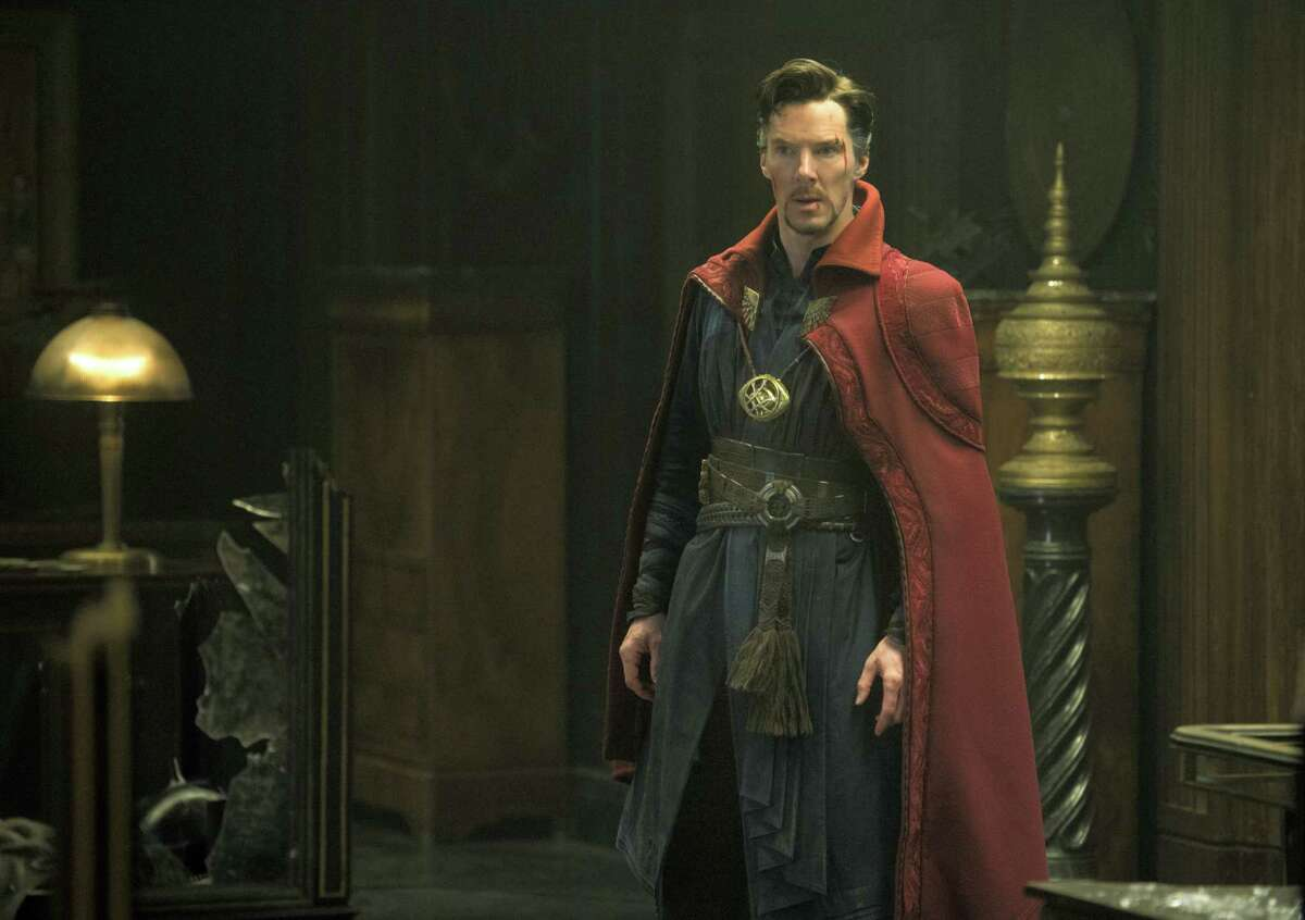 """This image released by Disney shows Benedict Cumberbatch in a scene from Marvel's """"Doctor Strange."""""""