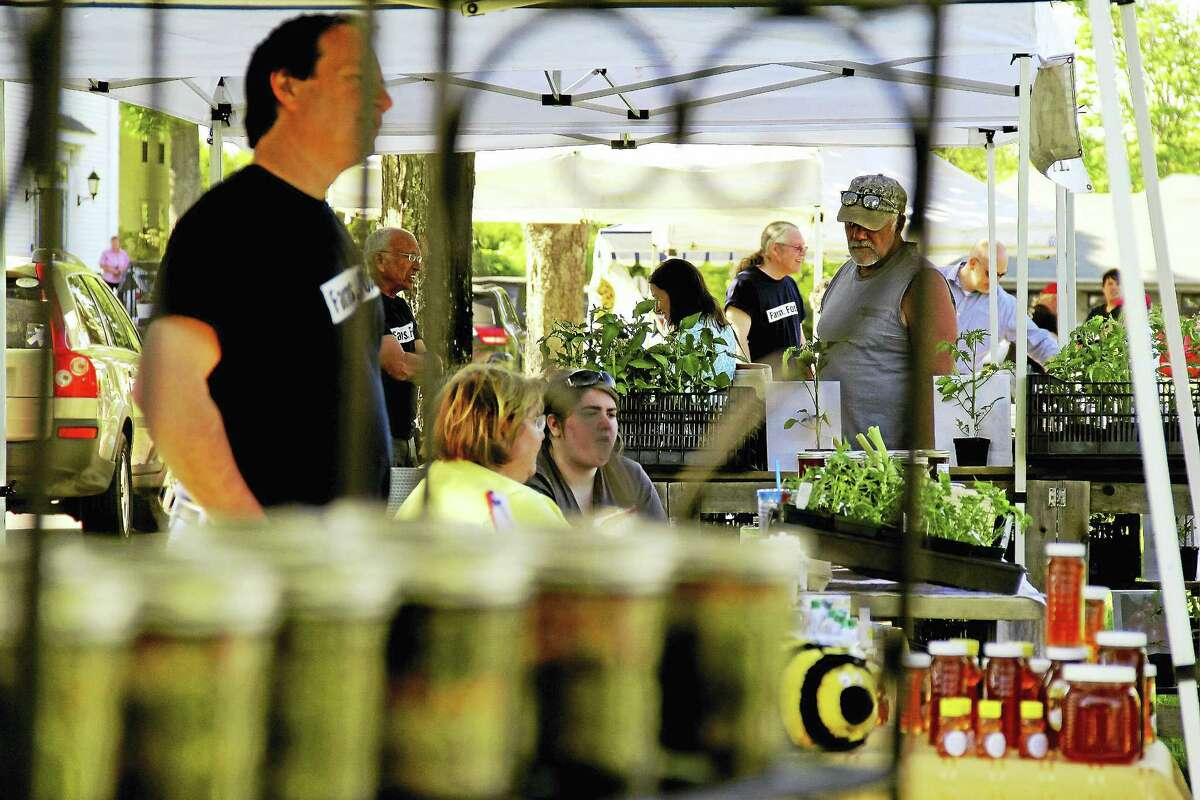 Kathleen Schassler — The Middletown Press The Durham Farmers' Market, which from April to September on the Town Green, offers a bounty of local farm and specialty products made with locally sourced ingredients.