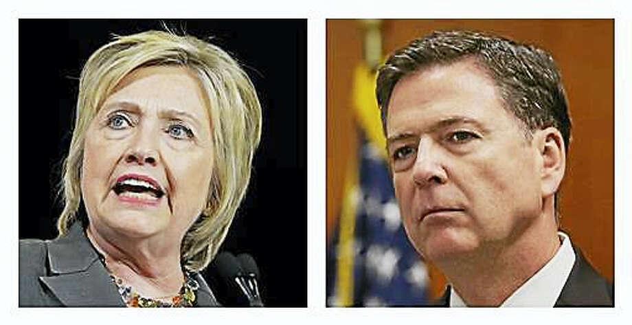 Hillary Clinton and FBI Director James Comey Photo: AP Photo