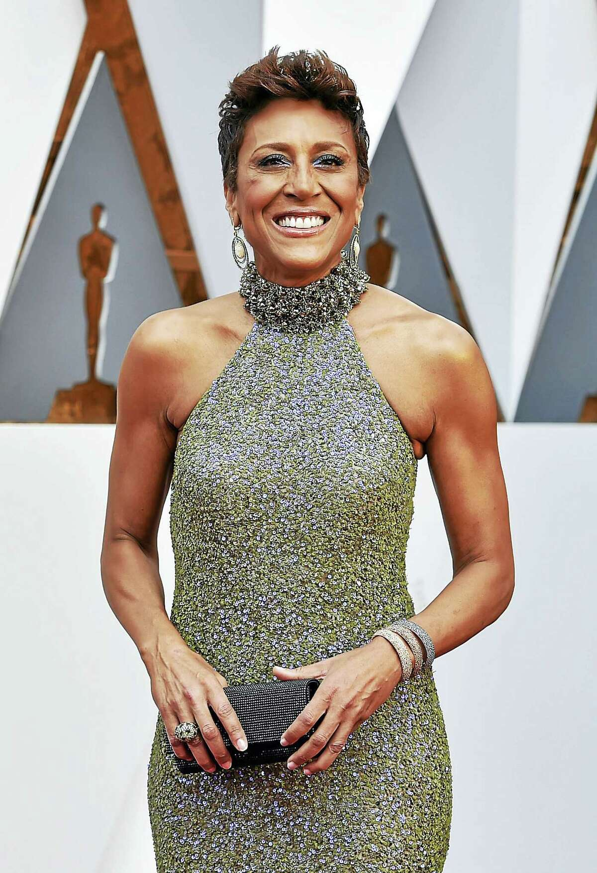 Robin Roberts arrives at the Oscars on Feb. 28 at the Dolby Theatre in Los Angeles.