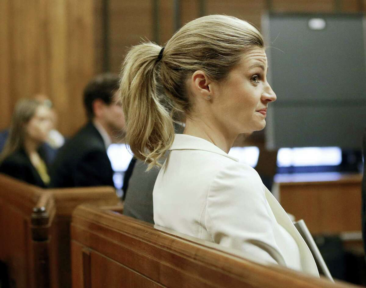 Sportscaster and television host Erin Andrews sits in the courtroom Thursday in Nashville, Tenn.