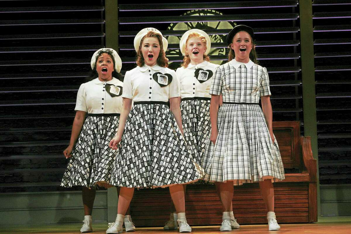 Photos by Diane SobolewskiBrittany Nicholas, Emily Applebaum, Hannah Bradley and Kristen Hoagland, rehears for Goodspeed Musicals' Bye Bye Birdie.