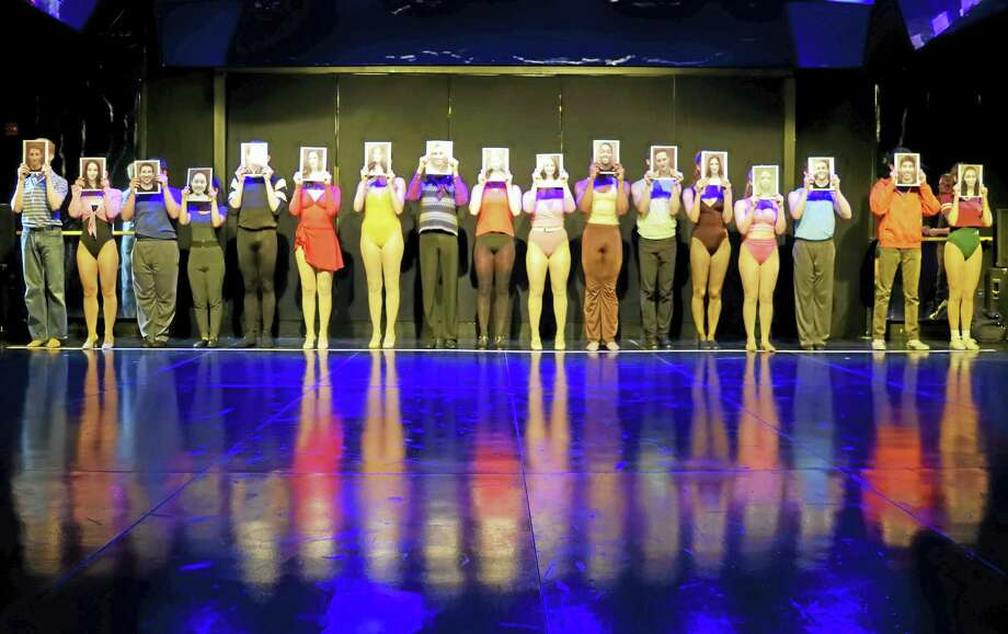 """Contributed photo The cast of """"A Chorus Line"""" at Playhouse on Park in West Hartford. Photo: Journal Register Co."""