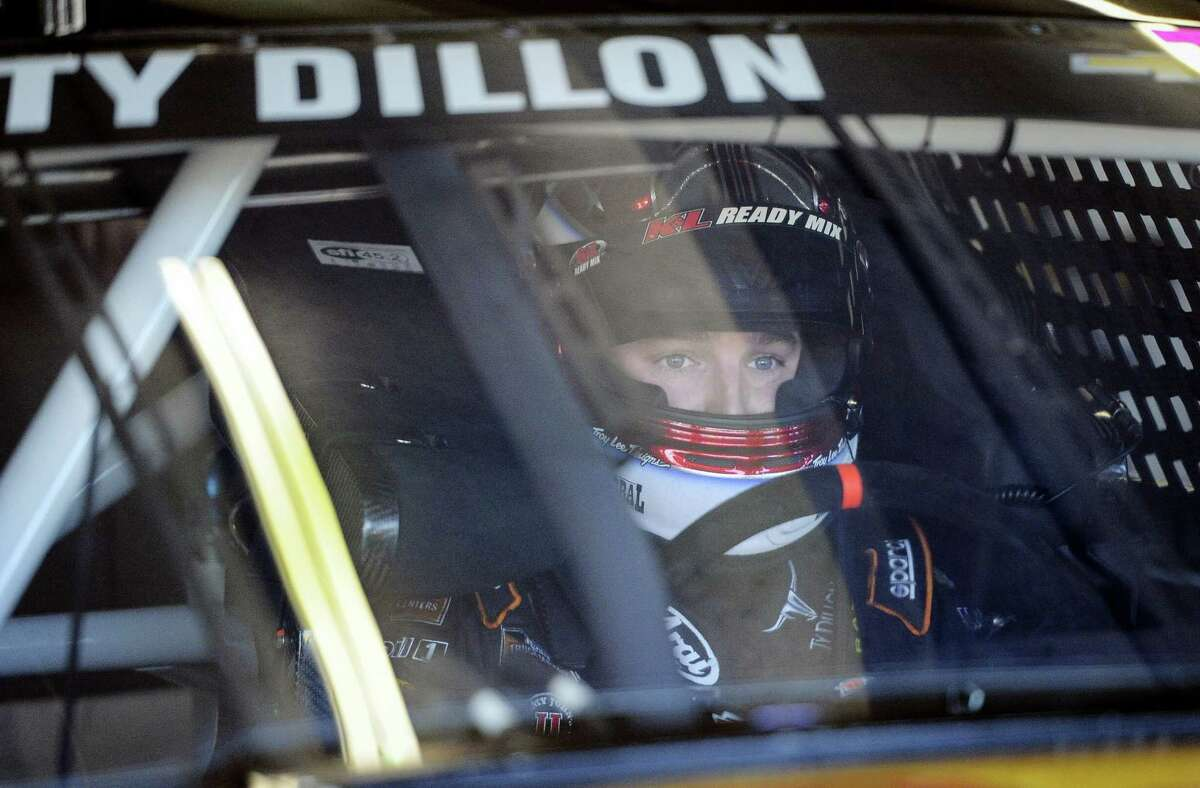 Ty Dillon gets ready to go out on the track during practice at Atlanta Motor Speedway on Saturday.