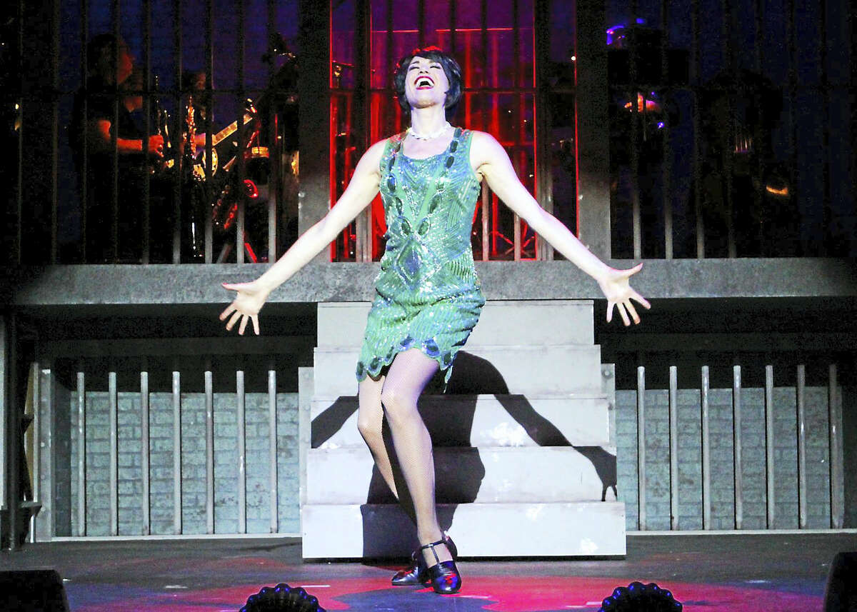Photo by Diane SoboewlskiStacey Harris belts out a number from Chicago, now playing at the Ivoryton Playhouse.