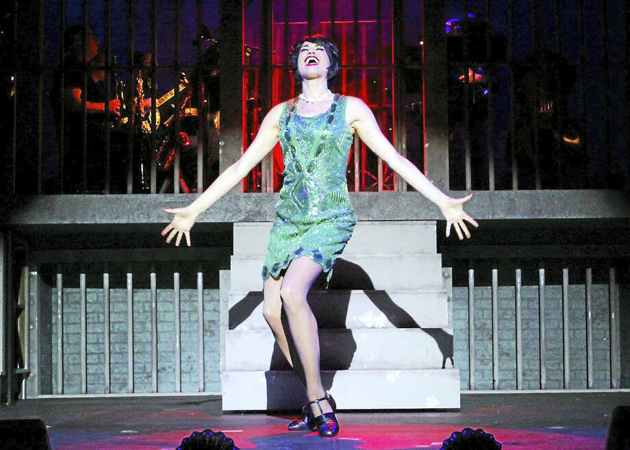 Photo by Diane SoboewlskiStacey Harris belts out a number from Chicago, now playing at the Ivoryton Playhouse. Photo: Journal Register Co.