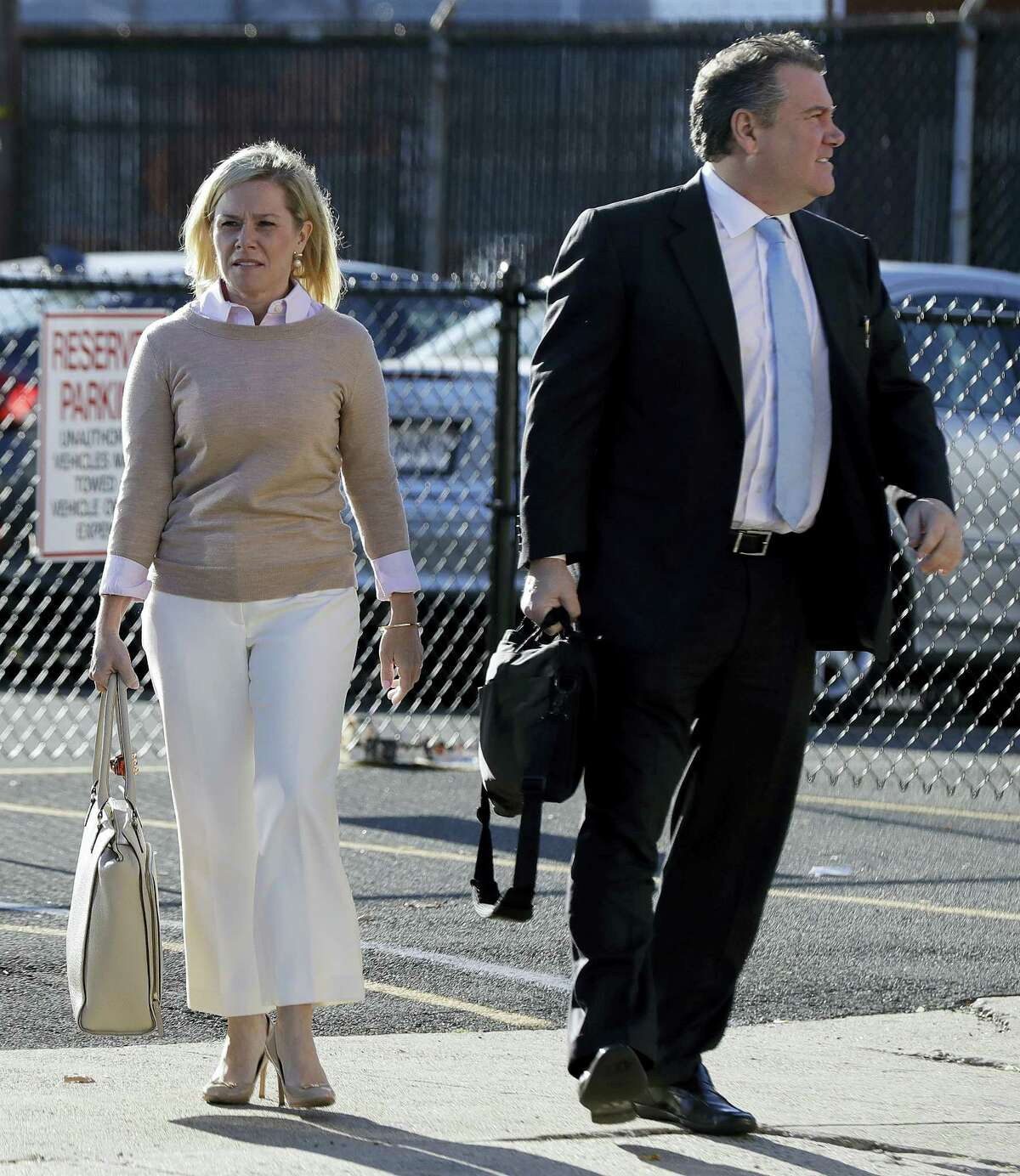 New Jersey Gov. Chris Christie's former Deputy Chief of Staff Bridget Anne Kelly arrives at Martin Luther King, Jr., Federal Court, Friday, Nov. 4, 2016, in Newark, N.J. Kelly and Bill Baroni are charged with scheming to use traffic jams to punish a Democratic mayor who didn't endorse Christie in 2013.