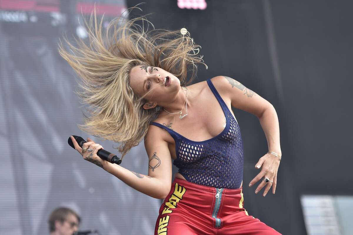 Tove Lo performs on Day 4 at Lollapalooza in Grant Park on Sunday, Aug 6, 2017, in Chicago. (Photo by Rob Grabowski/Invision/AP)