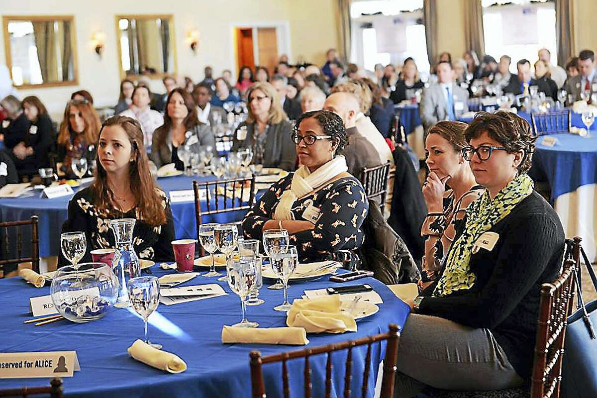 Wesleyan University employees take part in last year's Middlesex United Way annual meeting at the Riverhouse at Goodspeed in Haddam. The 2017 board of directors nominations