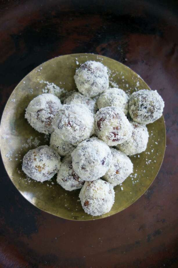This recipe is a twist on an ancient Indian sweet recipe called khajur pak often found piled high in pyramids in Delhi sweet shops. Photo: Meera Sodha — The Associated Press  / Meera Sodha