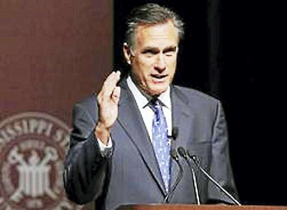 Mitt Romney Photo: AP File Photo