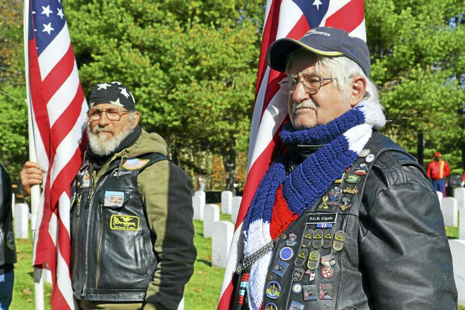 Members of the Disabled American Veterans, American Legion, Veterans of Foreign Wars, Catholic War Veterans, Patriot Guard Riders, Marine Corps League and many other organizations attended the ceremony. Photo: Cassandra Day — The Middletown Press