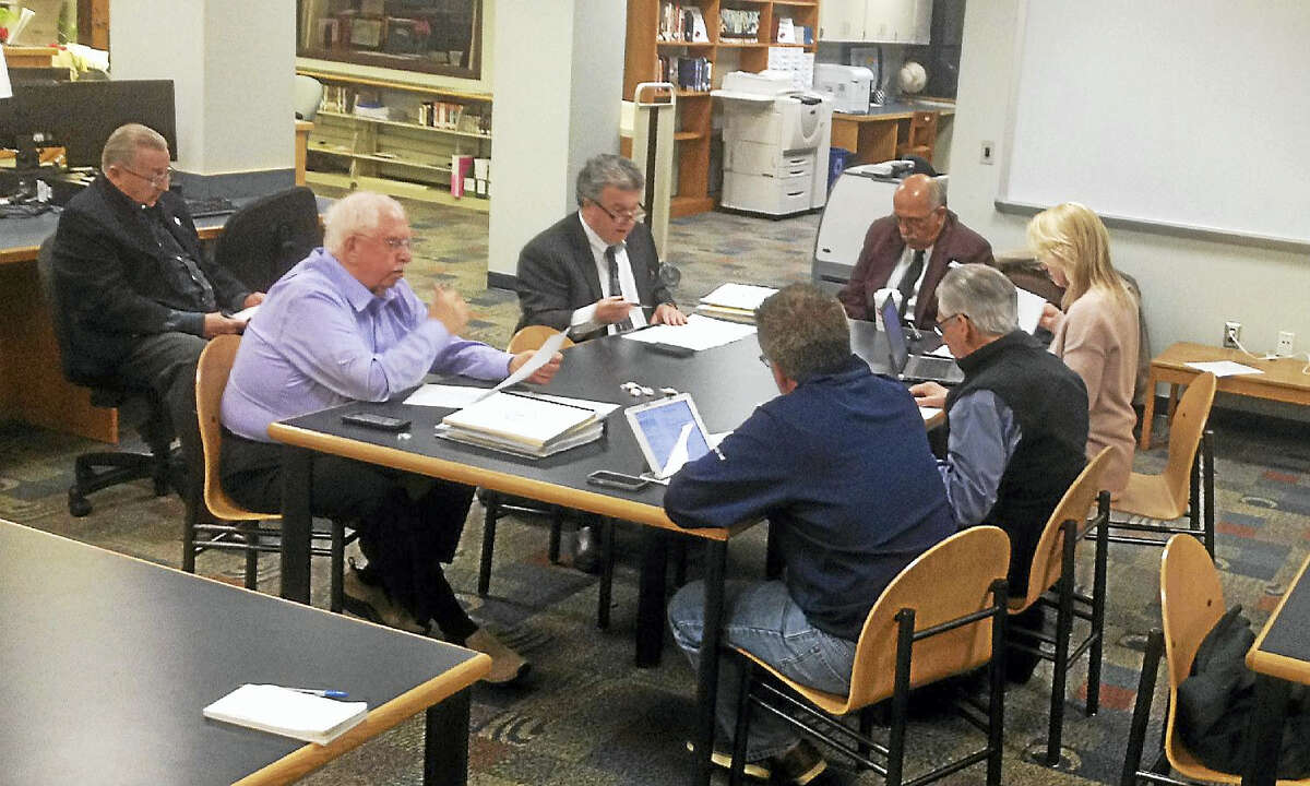Cromwell Board of Finance members meet to set the tax rate Tuesday after voters passed the budget.