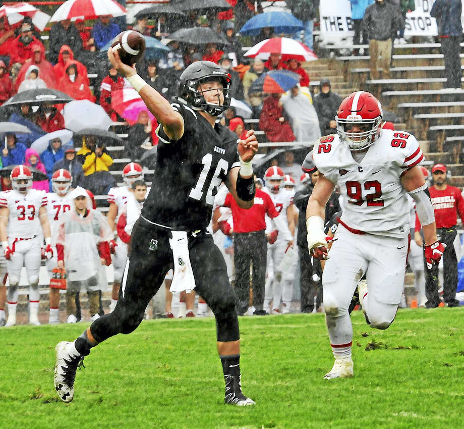 Brown quarterback T.J. Linta. Photo: Photo Courtesy Of Tom Maguire  / TOM MAGUIRE