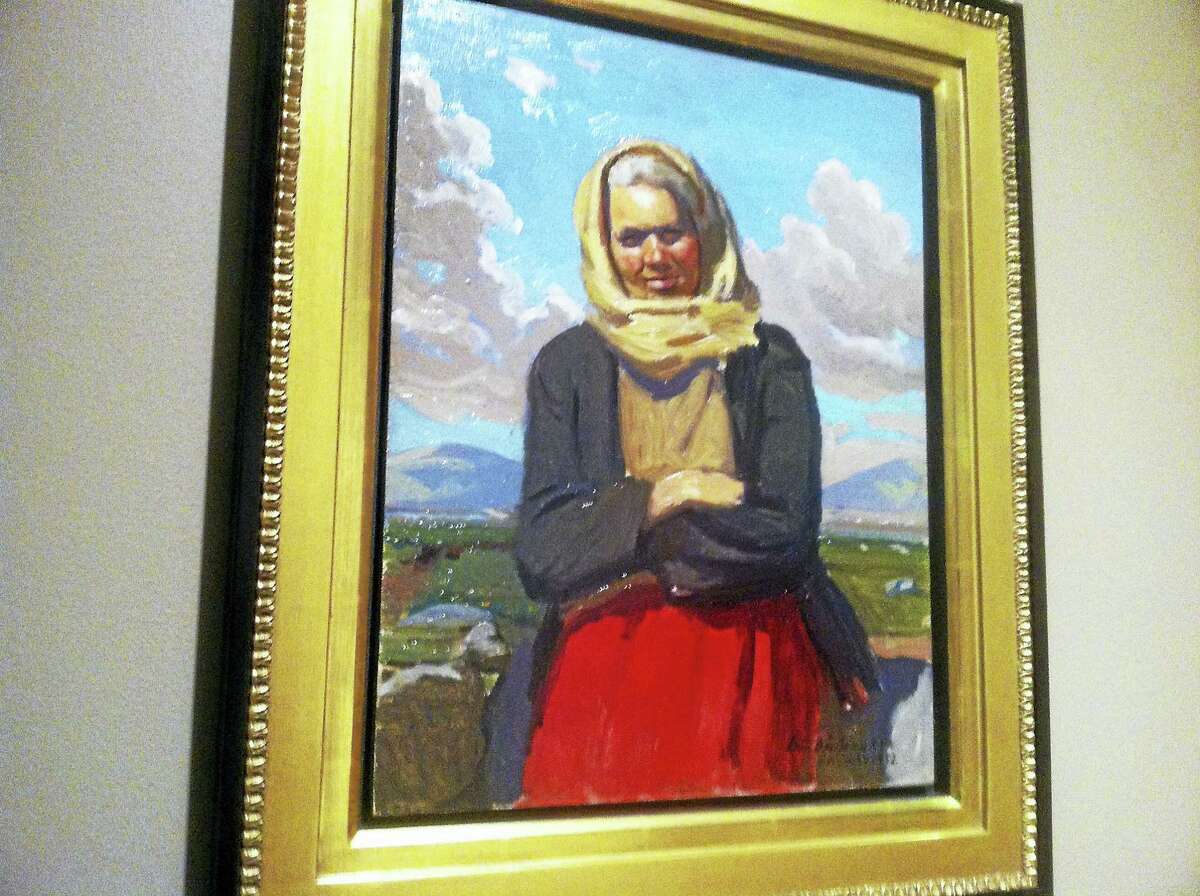 A painting at Ireland's Great Hunger Museum at Quinnipiac University