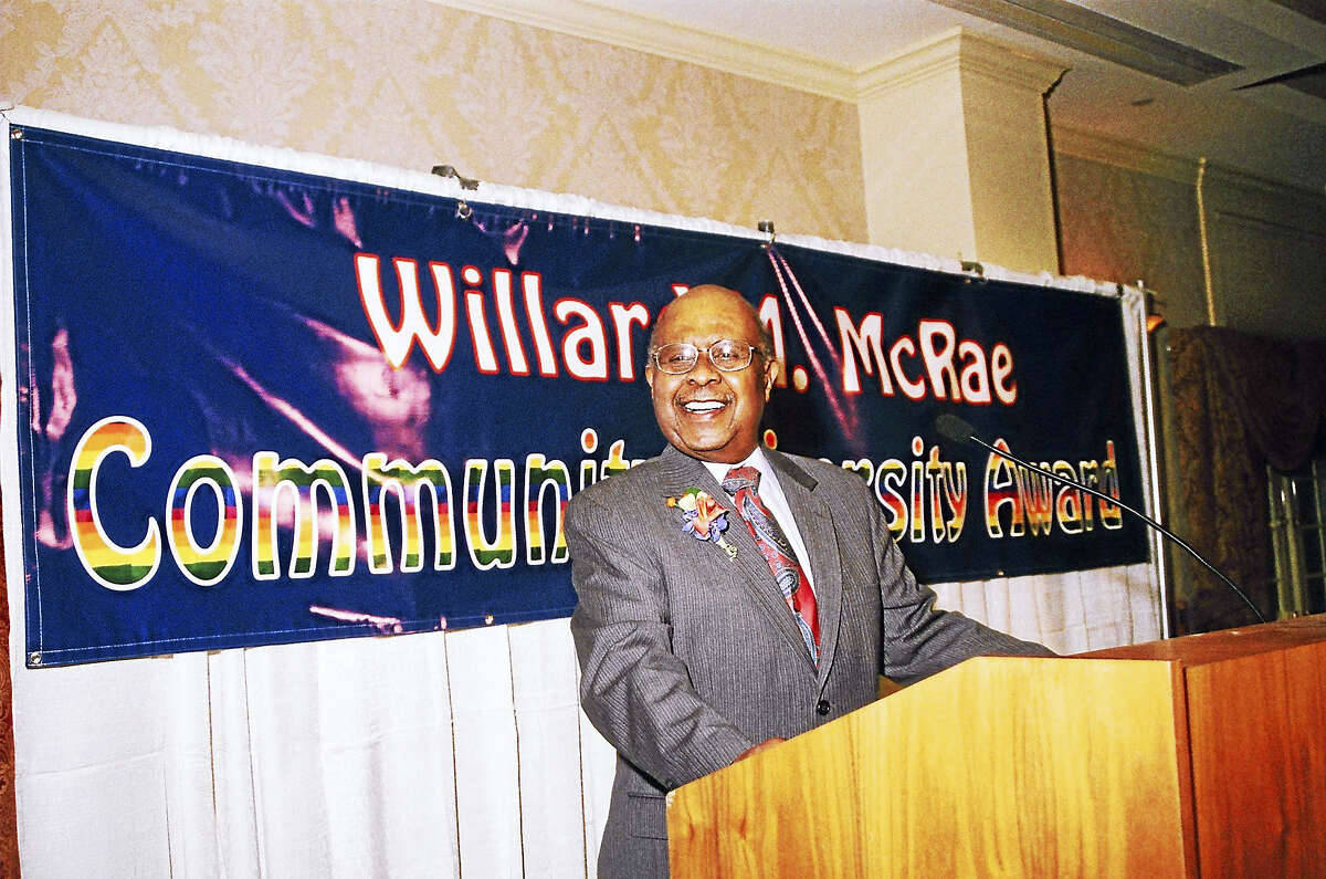 In 2009, the Liberty Bank Foundation renamed its Community Diversity Award to the Willard McRae Diversity Award. McRae died at age 82 on Feb. 18 after a nearly two-year battle with lung cancer.