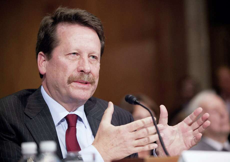 In this Nov. 17, 2015 file photo, Dr. Robert Califf, President Barack Obama's nominee to lead the Food and Drug Administration (FDA), testifies on Capitol Hill in Washington. The Senate has confirmed Califf to be commissioner of the FDA. Senators voted 89-4 Wednesday, Feb. 24, 2016, to confirm Califf after a handful of Democrats delayed action in a protest over the agency's inaction on the abuse of opioid painkillers.  (AP Photo/Pablo Martinez Monsivais, File) Photo: AP / AP