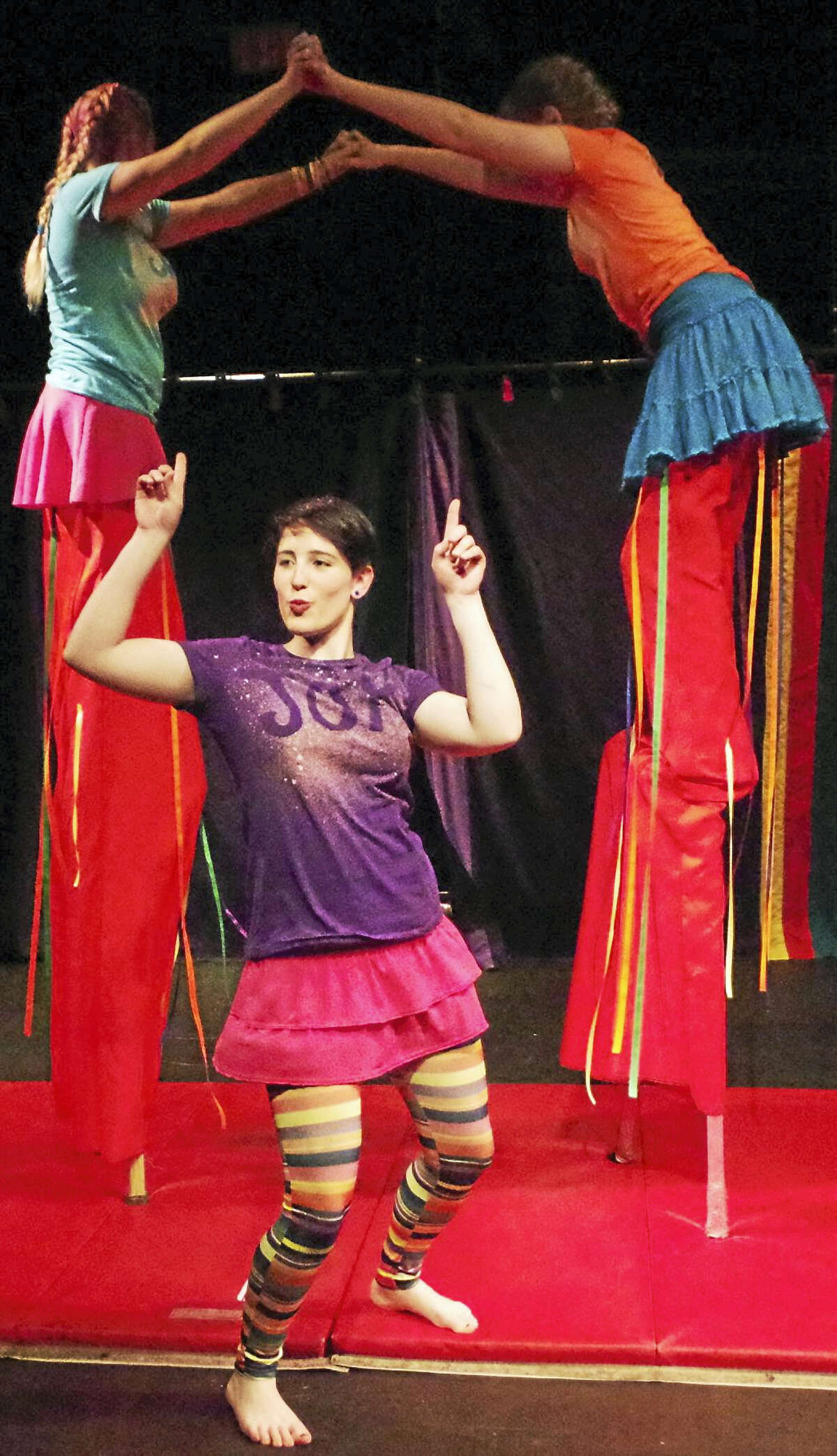 """Photo by David SchulzChildren of all ages can receive circus training in Middletown beginning Sept. 13. Above, Circophony Traveling Company performer Jasmine Peck in 2016's """"Circus of Joy."""""""