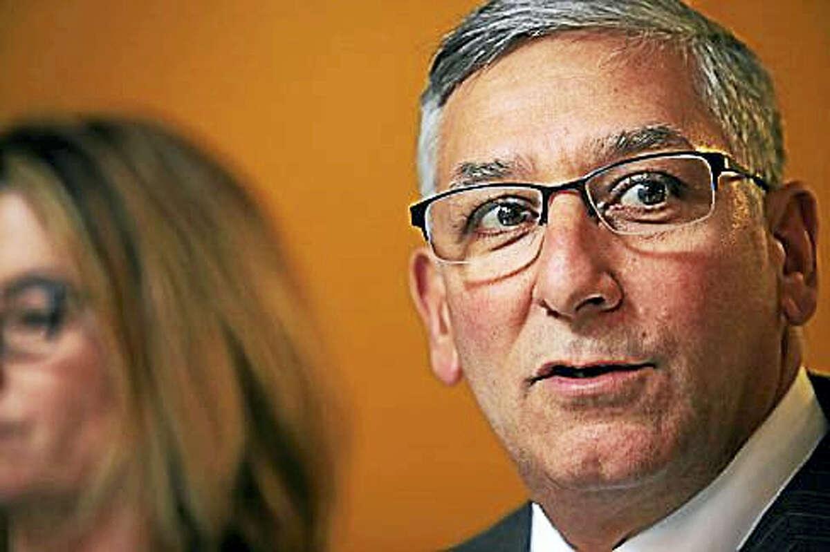 Senate Minority Leader Len Fasano, R-North Haven, criticizes Democratic majority for new deficit figures.