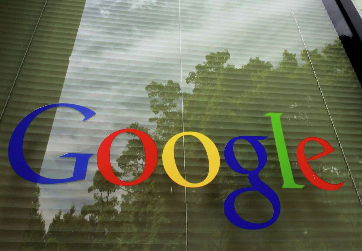 The Google logo displayed at the company's headquarters in Mountain View, Calif.