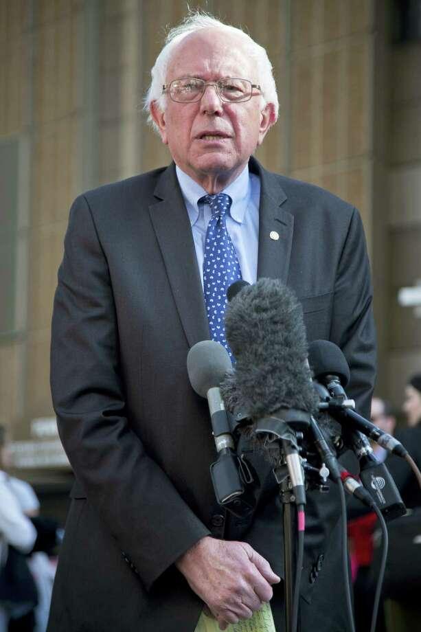 Democratic presidential candidate Sen. Bernie Sanders, I-Vt. Photo: File Photo  / AP