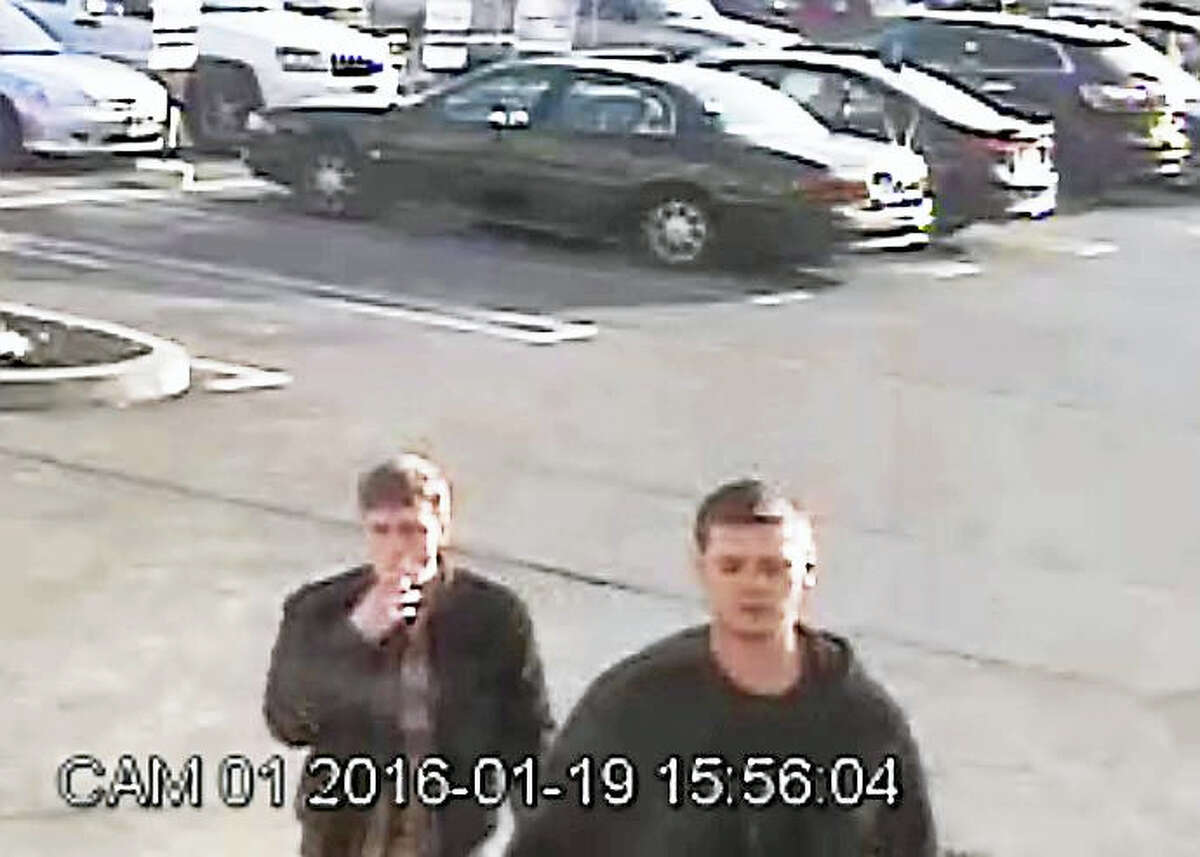 Police are looking for two men allegedly connected to a cloned credit card used in January at the Clinton Stop & Shop store.