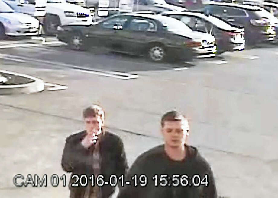 Police are looking for two men allegedly connected to a cloned credit card used in January at the Clinton Stop & Shop store. Photo: Courtesy Clinton Police