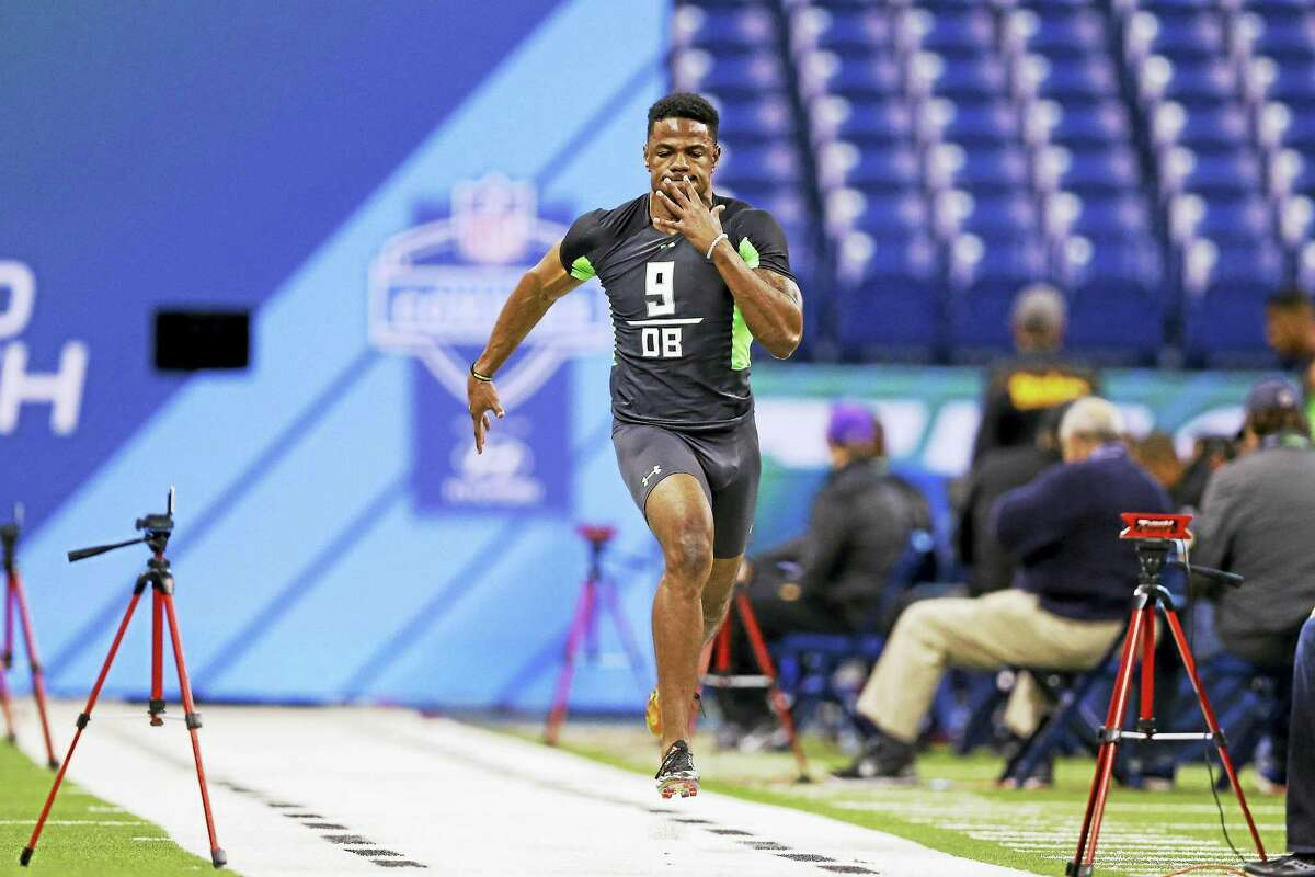 The Jets drafted North Carolina State defensive back Juston Burris in the fourth round on Saturday.