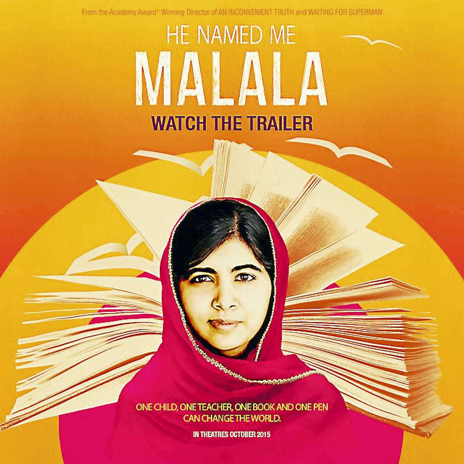 "Contributed photoESSEX: ""He Named Me Malala,"" the story of Pakistani schoolgirl, Malala Yousafzai, who advocates for girls' education, will be screened for free at 2 p.m. Feb. 27 at the Essex Library, 33 West Ave. Yousafzai is the youngest winner of the Nobel Peace Prize. The event is part of the series ""Uncommon Heroes,"" which will present films and speakers celebrating women working to improve the lives of others. RSVP: 860-767-1560. Photo: Journal Register Co."