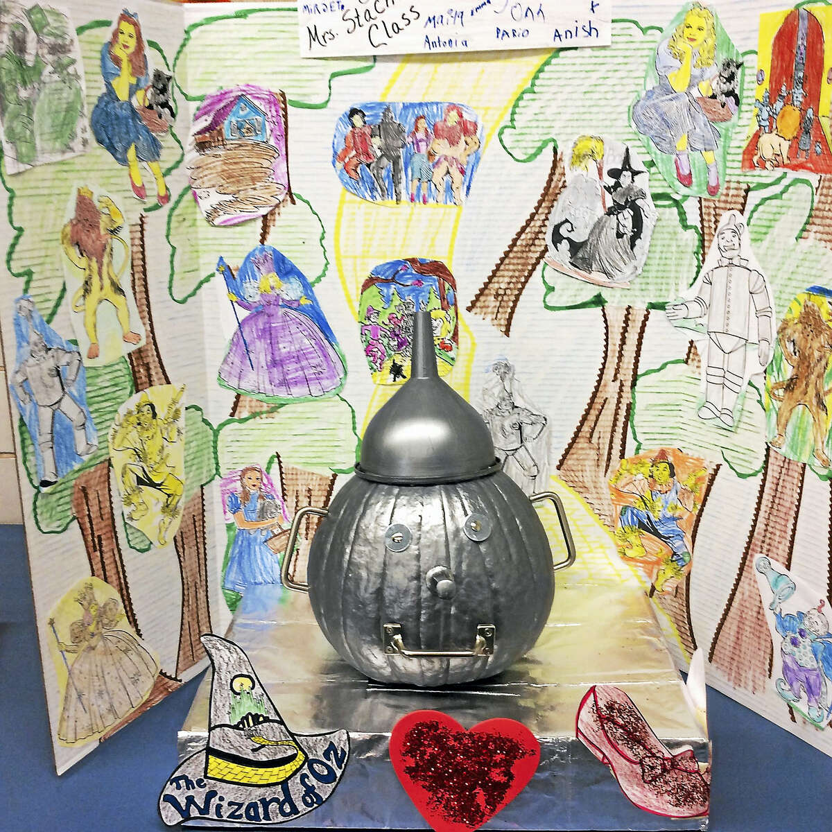 """Details of the L. Frank Baum book, """"The Wonderful Wizard of Oz,"""" were carefully illustrated by ECS second-grader Dario."""
