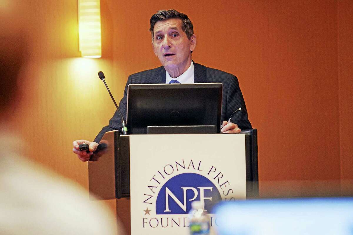 White House Director of National Drug Control Policy Michael Botticelli during a talk to journalists in Baltimore.