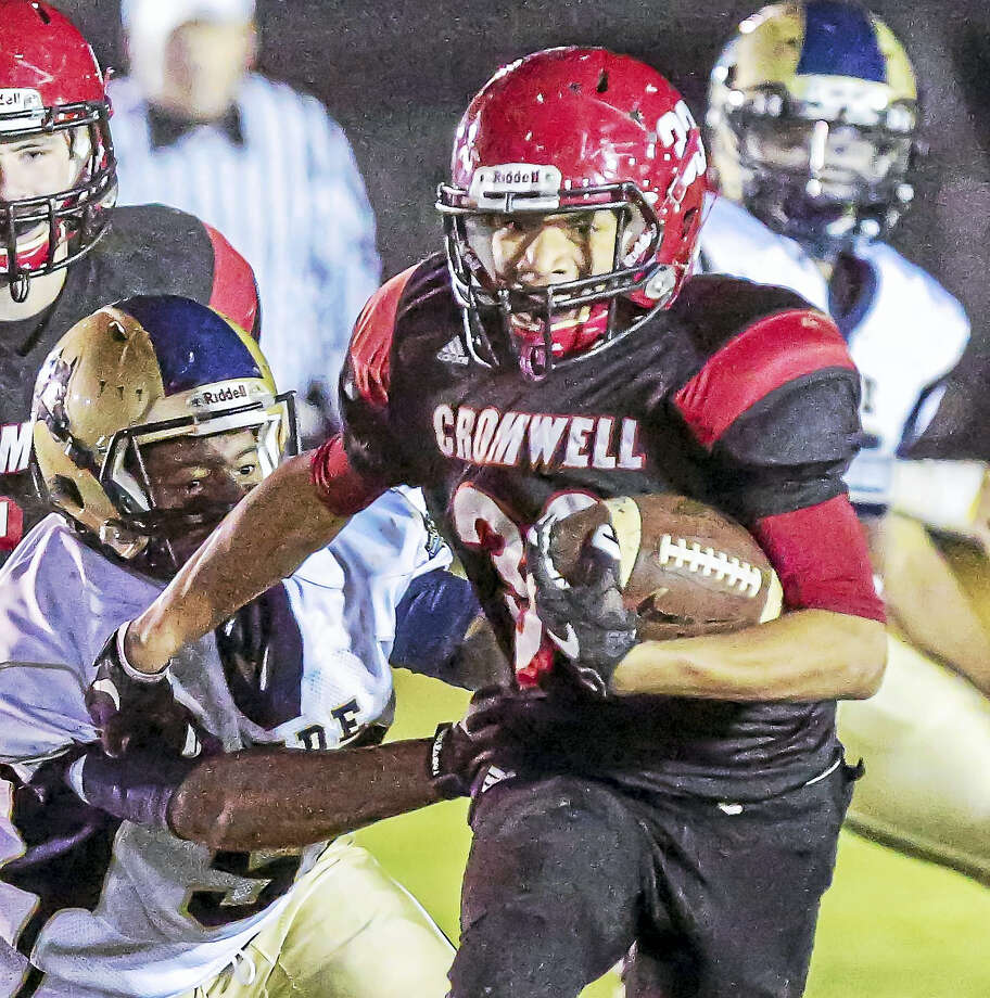 Cromwell/Portland running back Kristian Sapp will be aiming for a Class S playoff spot in 2016. Photo: John Vanacore - Special For The Press  / John Vanacore