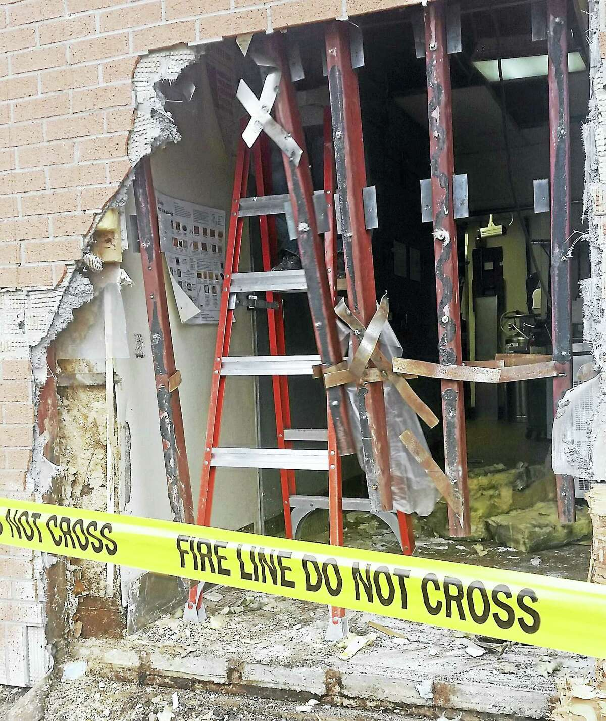 Friendly's in Cromwell was damaged Wednesday after a woman accidentally drove a car into the building, officials said.