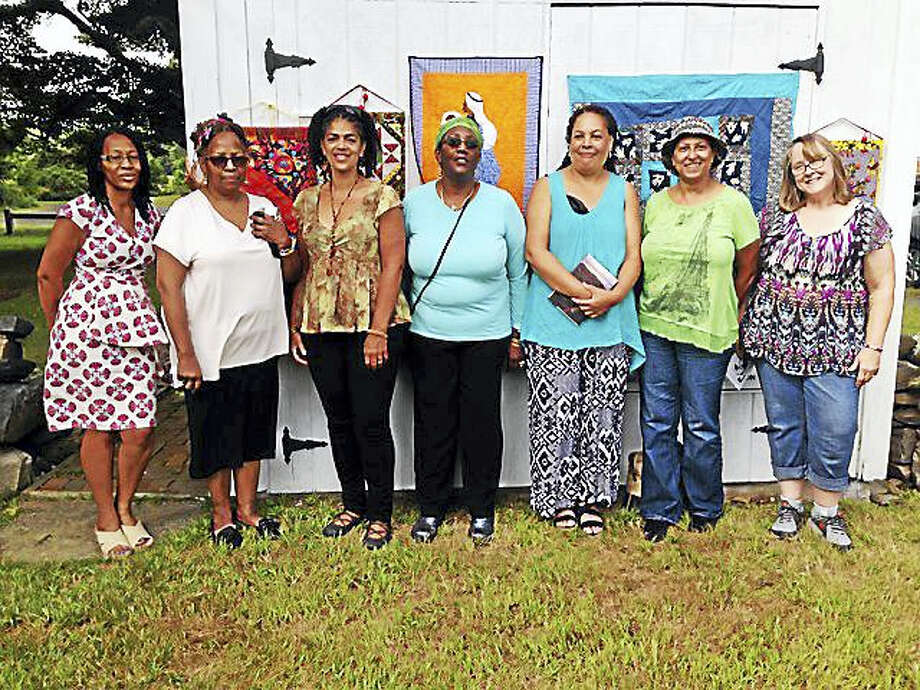 Contributed photo Sisters in Stitches Joined by the Cloth, based in Massachusetts, are participants in Venture Smith Day in East Haddam. Photo: Journal Register Co.