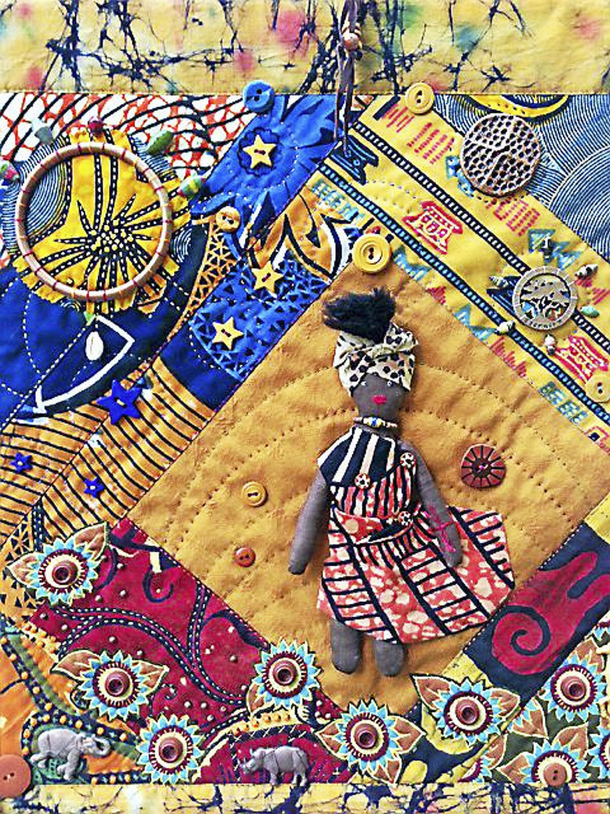 """Contributed photo The ladies of """"Sisters In Stitches Joined by the Cloth"""" of eastern Massachusetts will bring their unique quilt creations to Venture Smith Day, set for Sept. 10 in East Haddam."""