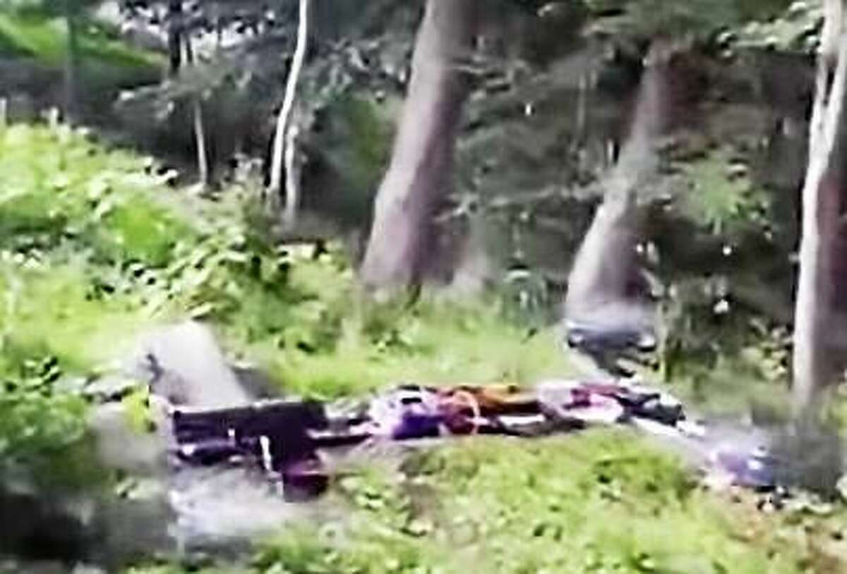 Screenshot of the video a college student from Clinton posted online of a gun-firing drone.